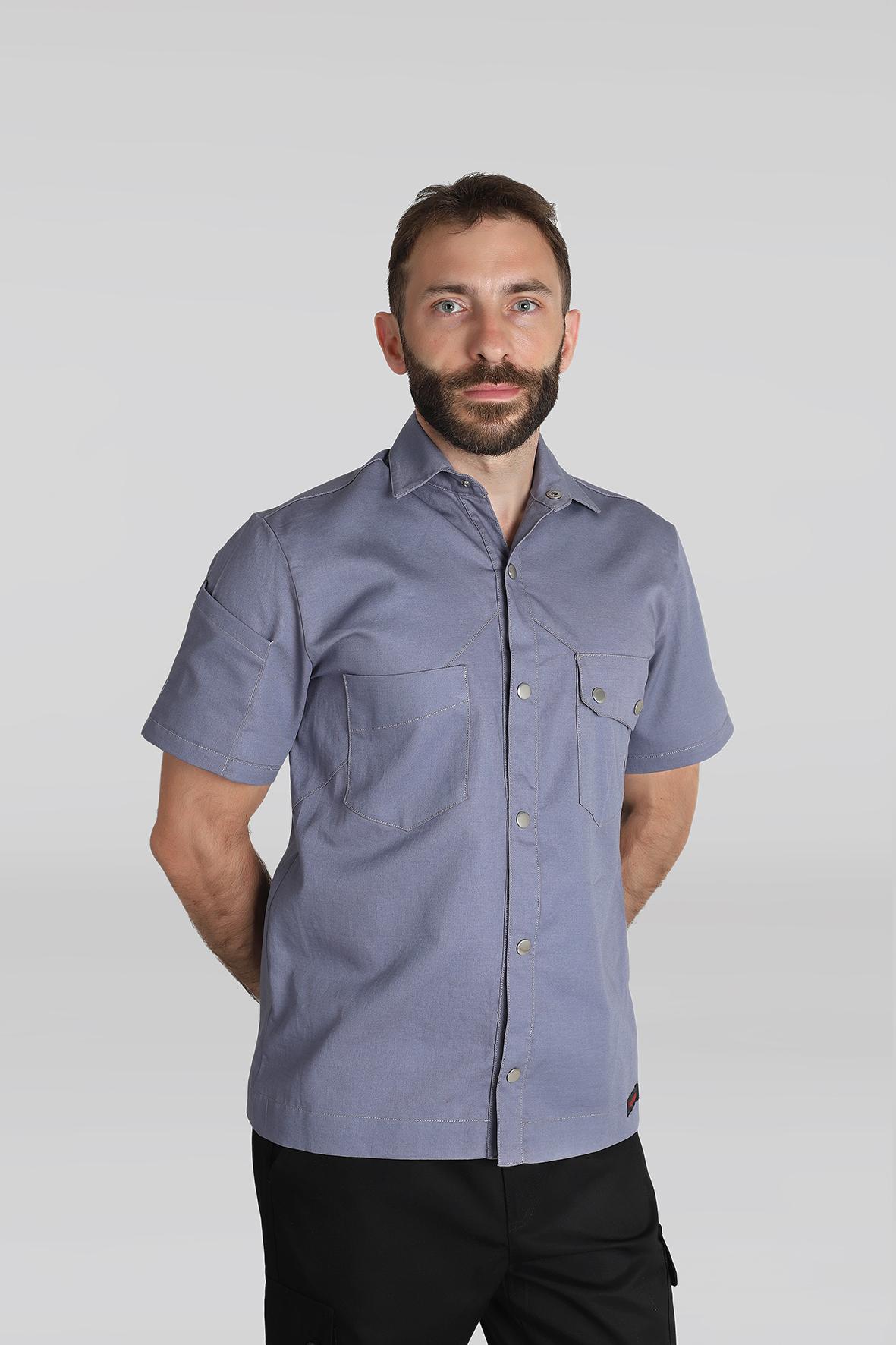 camisas para uniformes gastronómicos